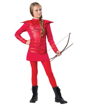 Warrior Huntress Red Girl Costume