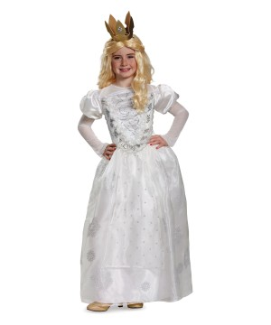 White Queen Alice Through the Looking Glass Girl Costume deluxe