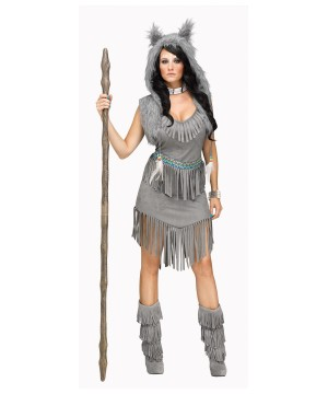 Wolf Dancer Indian Women Costume