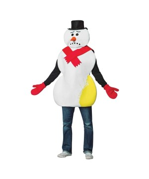Yellow Snowman Men Costume