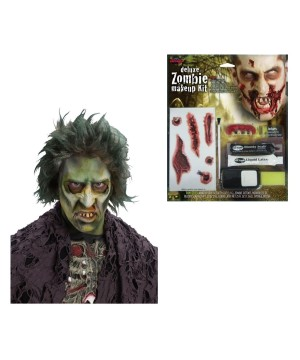 Zombie Wig and deluxe Makeup Set