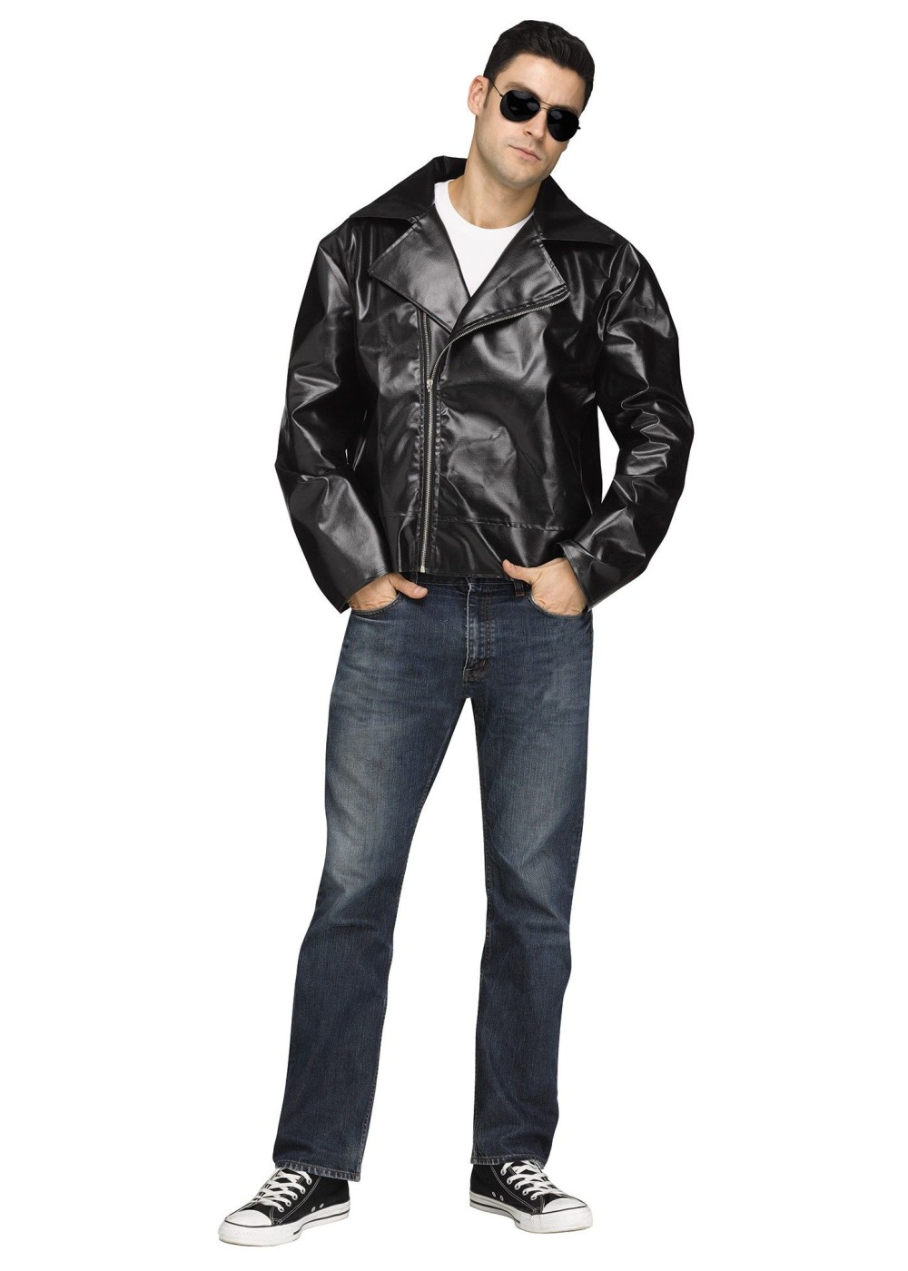 S Biker Jacket Men Costume on costume jewelry of the 1950s