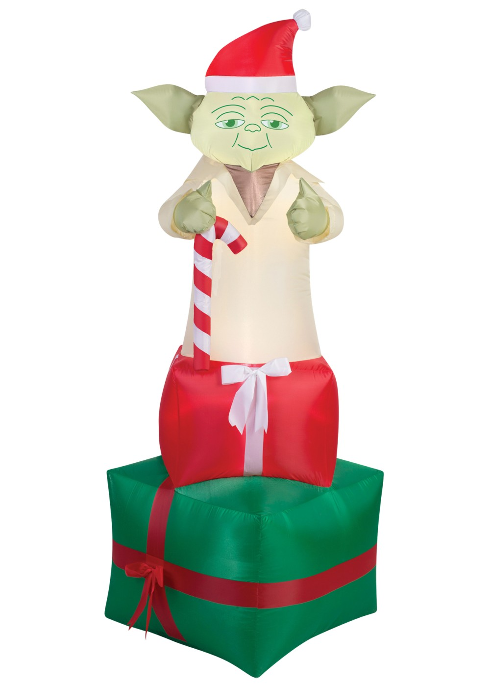 airblown christmas yoda star wars decoration - Star Wars Blow Up Christmas Decorations