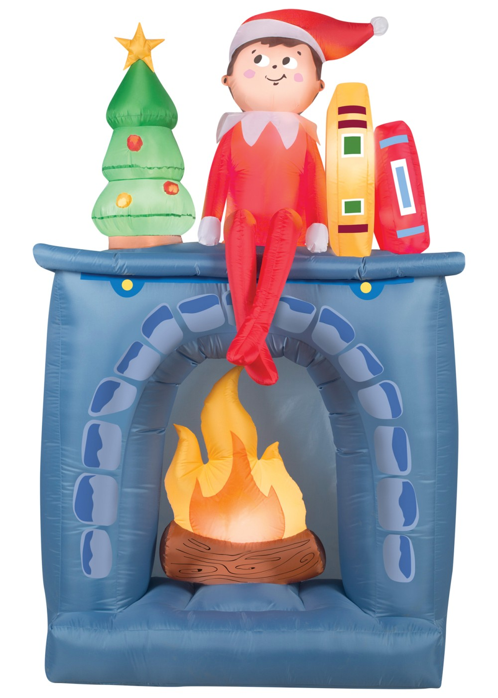 Airblown fireplace christmas decoration decorations for Airblown christmas decoration
