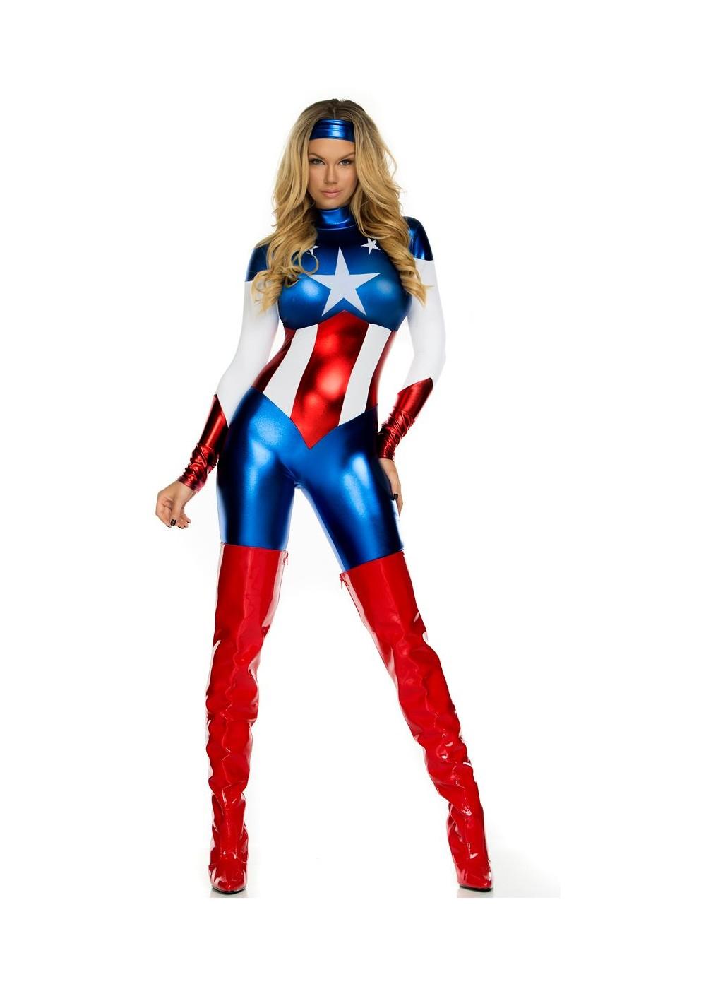 Astonishing Allegiance Sexy Hero Women Costume - Superhero -1512
