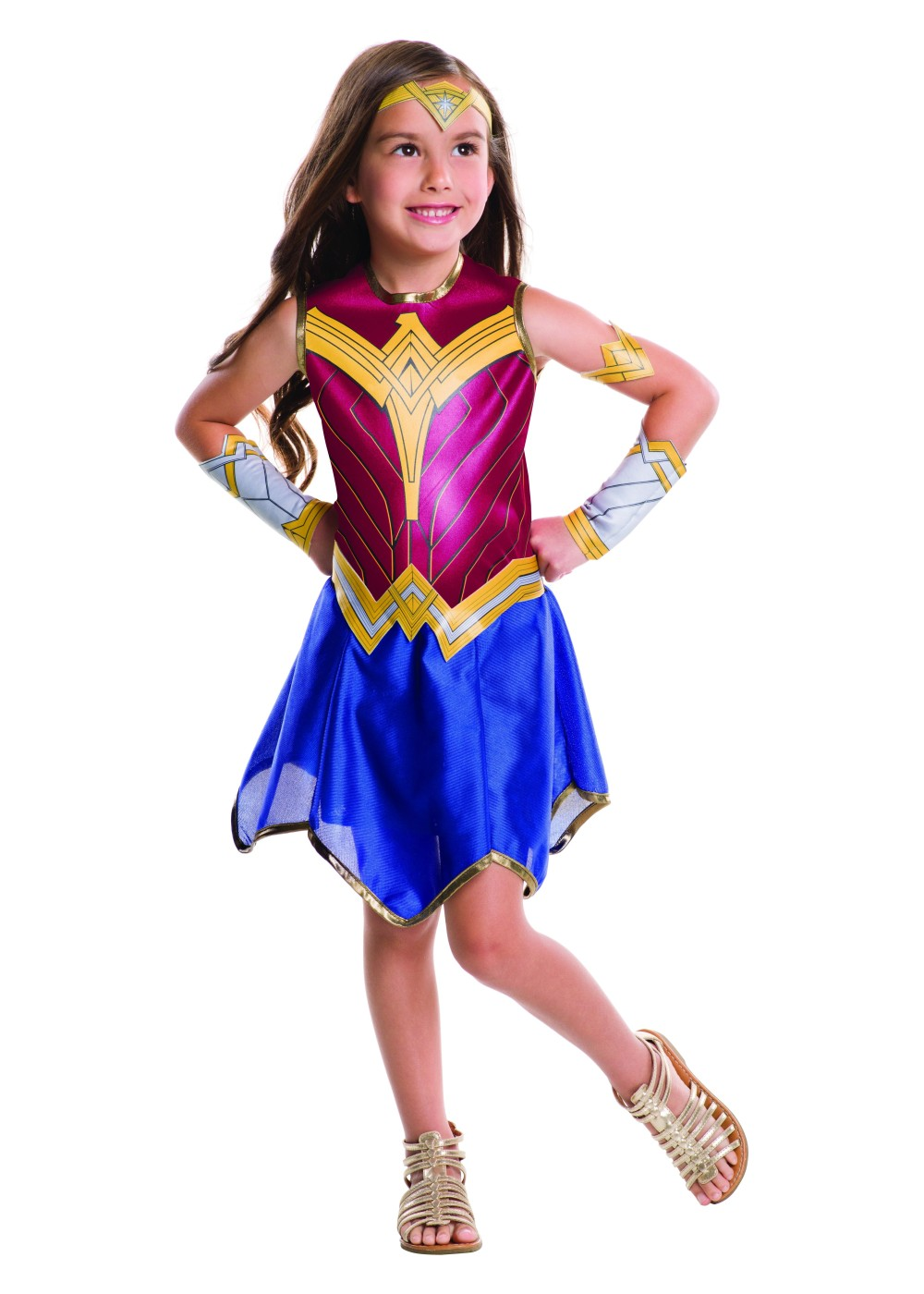 Kids Batman V Superman Wonder Woman Girls Costume