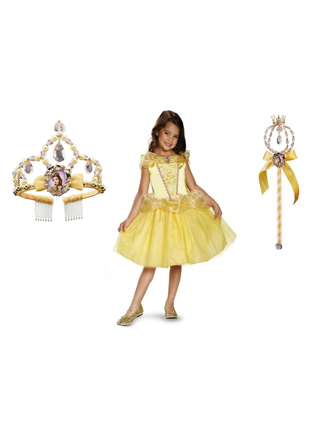 Kids Belle Costume Wand And Tiara Kit