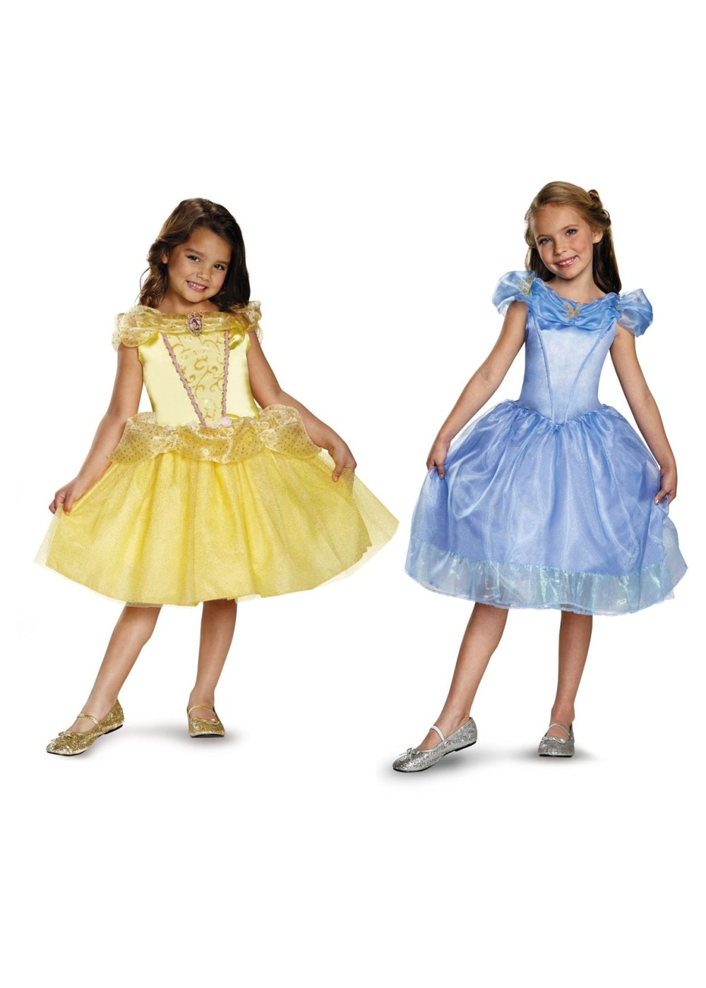 Kids Belle And Cinderella Girls Costumes