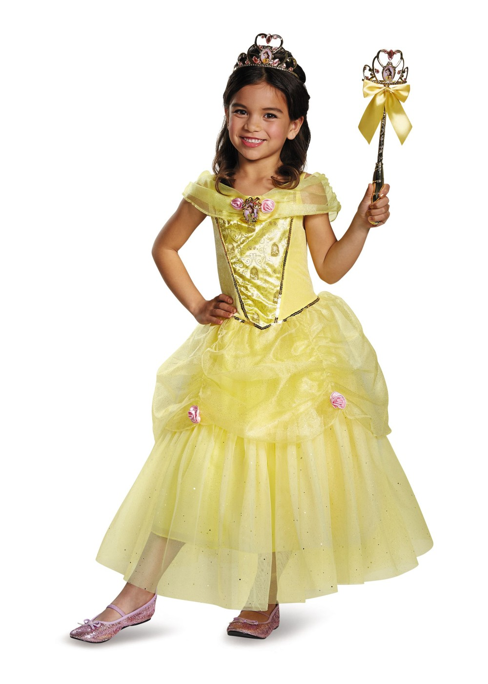 Belle Disney Girls Costume on html shopping cart