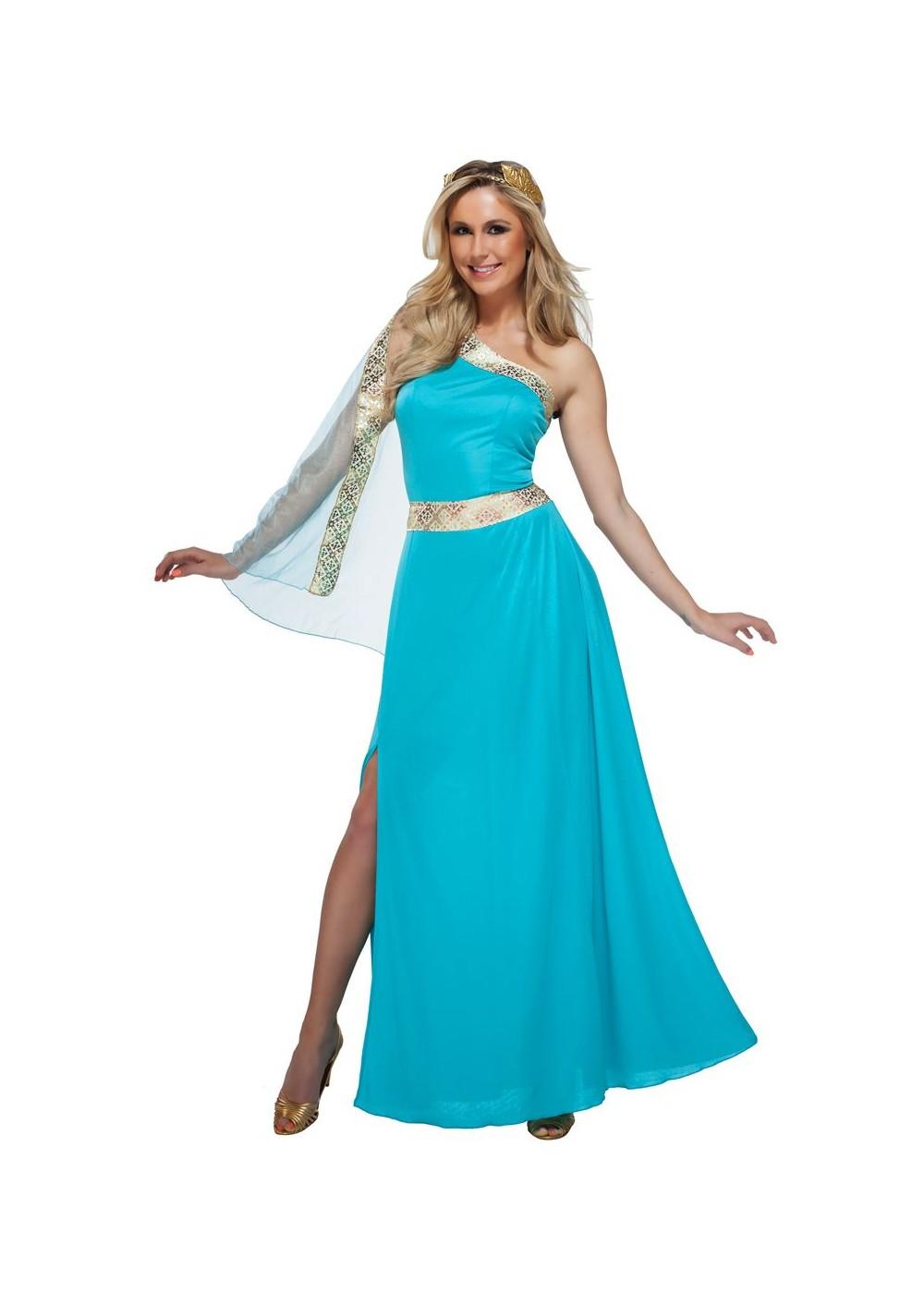 Blue Goddess Women Costume