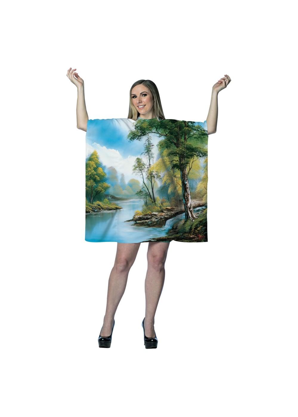 bob-ross-painting-tree-tunic-dress