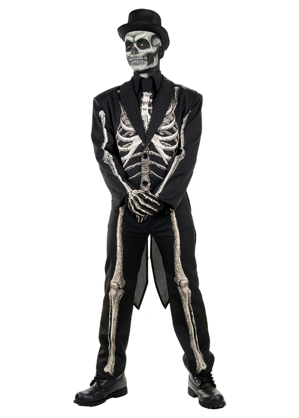 Bone Chillin Skeleton Men Costume