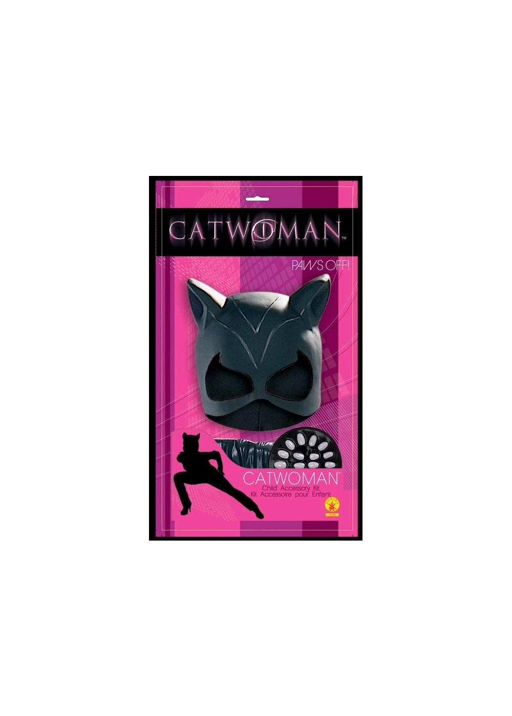 Catwoman Mask Gloves And Nails Set