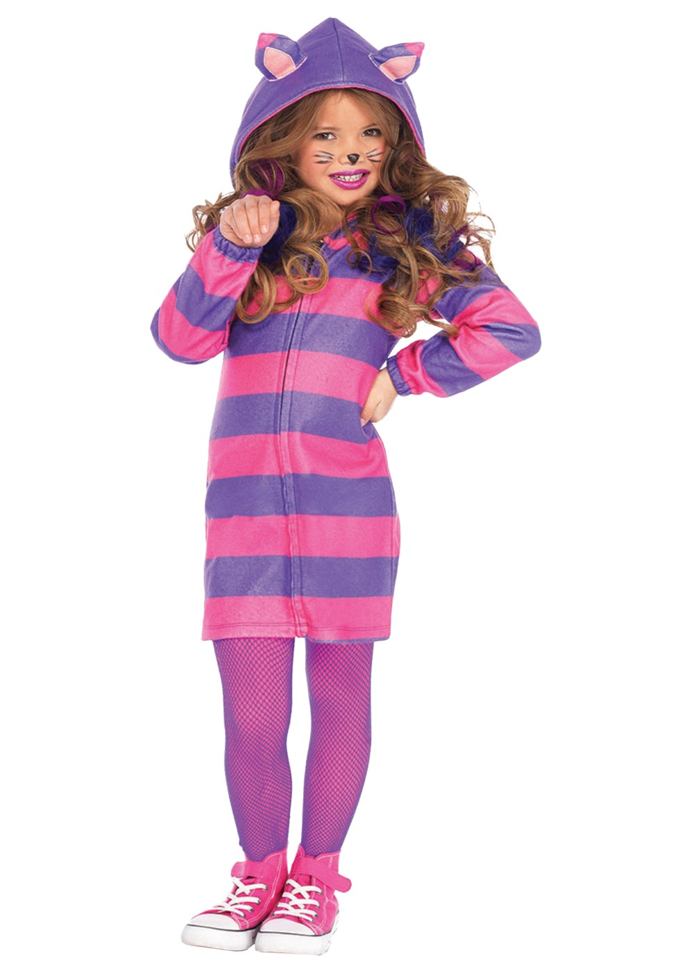Kids Cheshire Cat Cozy Girls Costume
