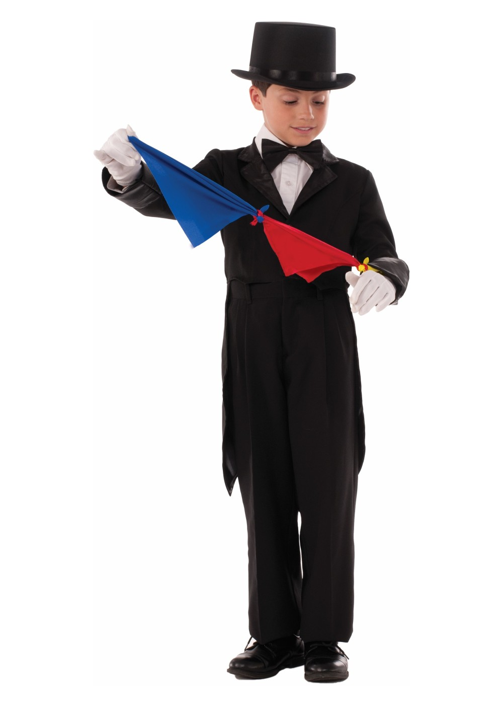 Magician From The Crystal Visions Tarot: Magician Tailcoat And Scarves Boys Costume