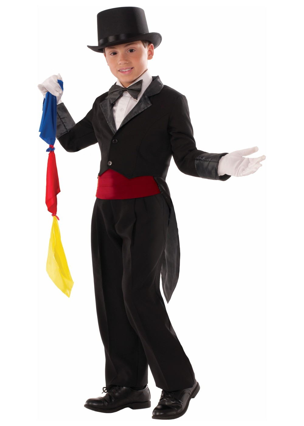 Magician Tailcoat and Scarves Boys Costume - Professional ...