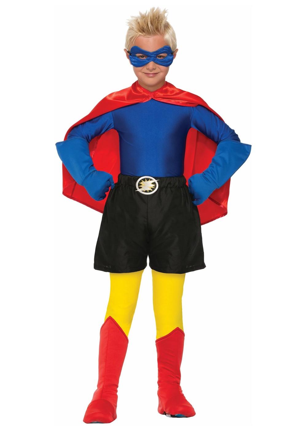 Kid S Superhero Boys Shirt Accessories