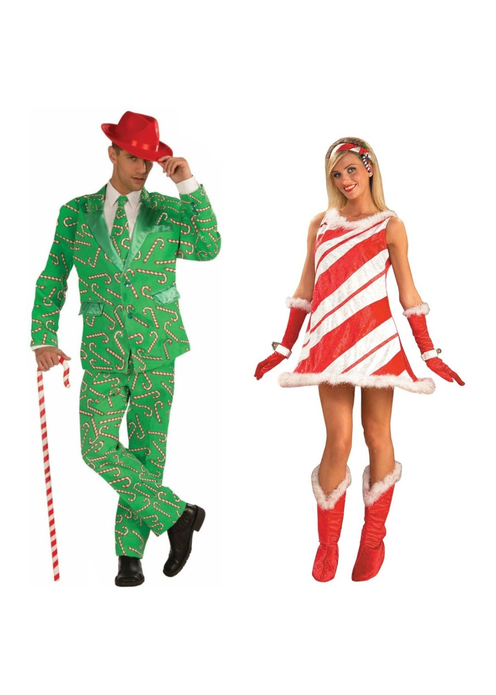 Christmas Candy Cane Men Costume And Candy Cane Jane Women Costume  sc 1 st  Halloween Costumes & Christmas Candy Cane Men Costume and Candy Cane Jane Women Costume ...