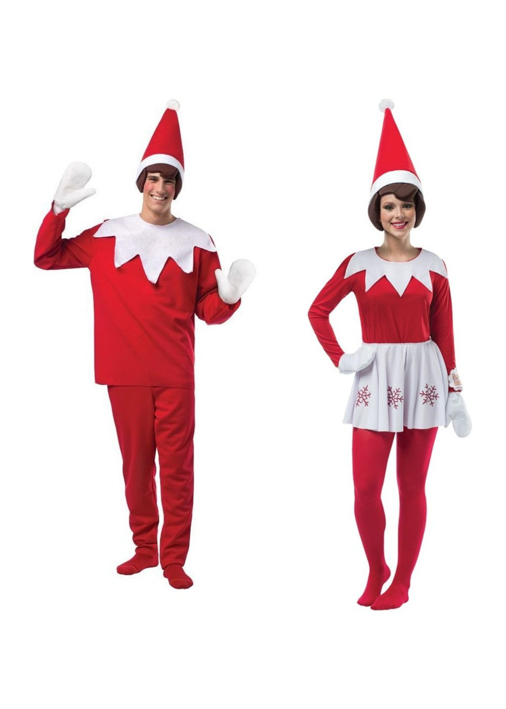 Christmas Elf On A Shelf Men And Women Couples Costume Set