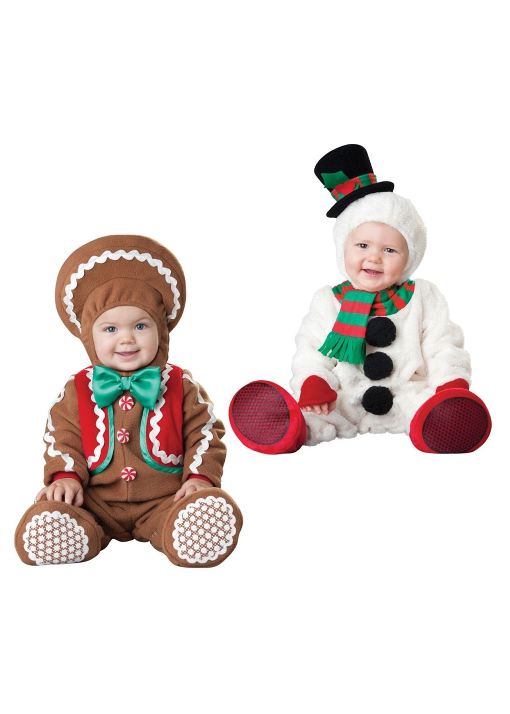 Christmas Gingerbread Man And Snowman Baby Boys Costumes  sc 1 st  Halloween Costumes & Christmas Gingerbread Man and Snowman Baby Boys Costumes - Christmas ...