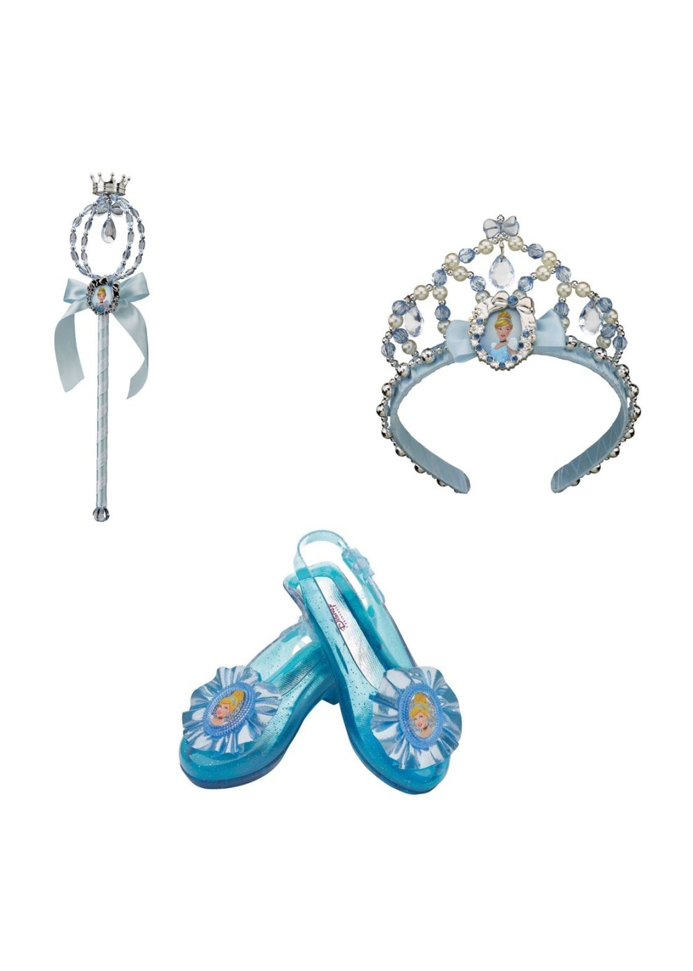 Kids Cinderella Shoes Wand And Tiara Accessory Kit