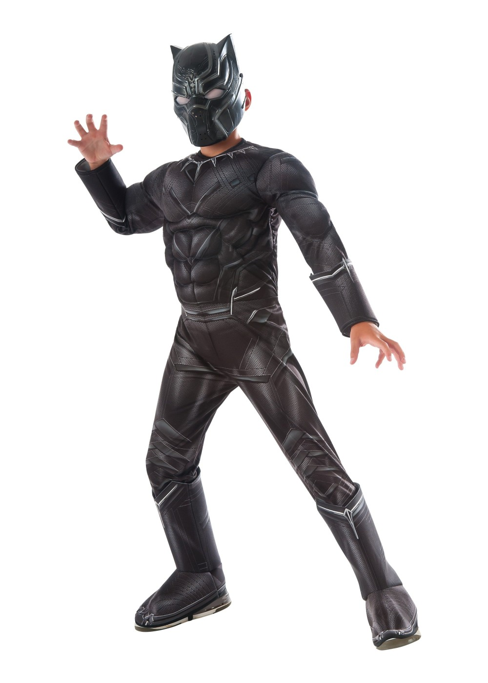 Civil War Black Panther Muscle Boys Costume Deluxe