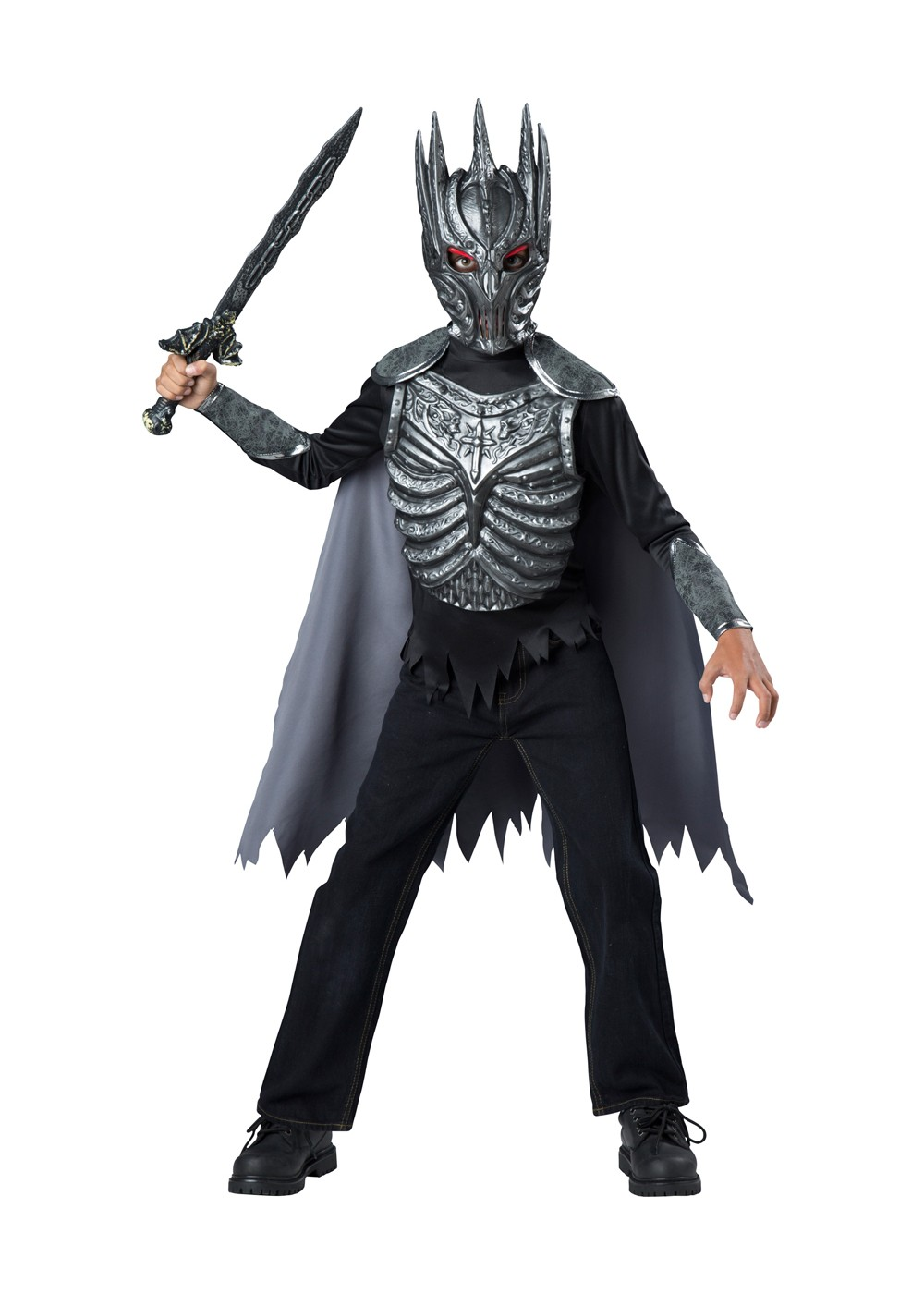 Dark Knight Warrior Fighter Boys Costume