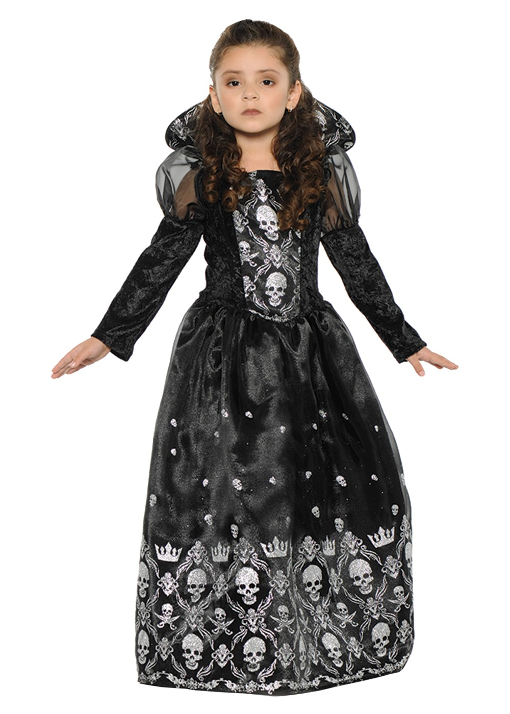 Kids Dark Princess Girls Costume