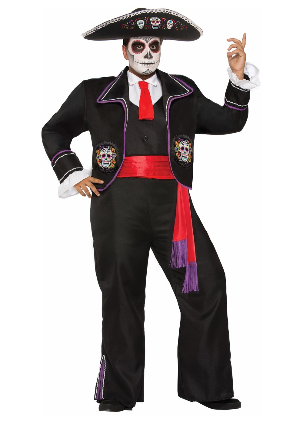 Day Of The Dead Plus Size Mariachi Men Costume