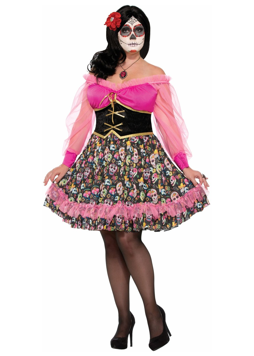 day of the dead plus size women costume - holiday costumes