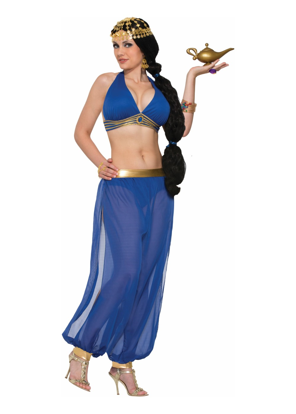Desert Princess Dancer Blue Women Costume  sc 1 st  Halloween Costumes & Harem costumes u0026 harem costume accesories for kids u0026 adults