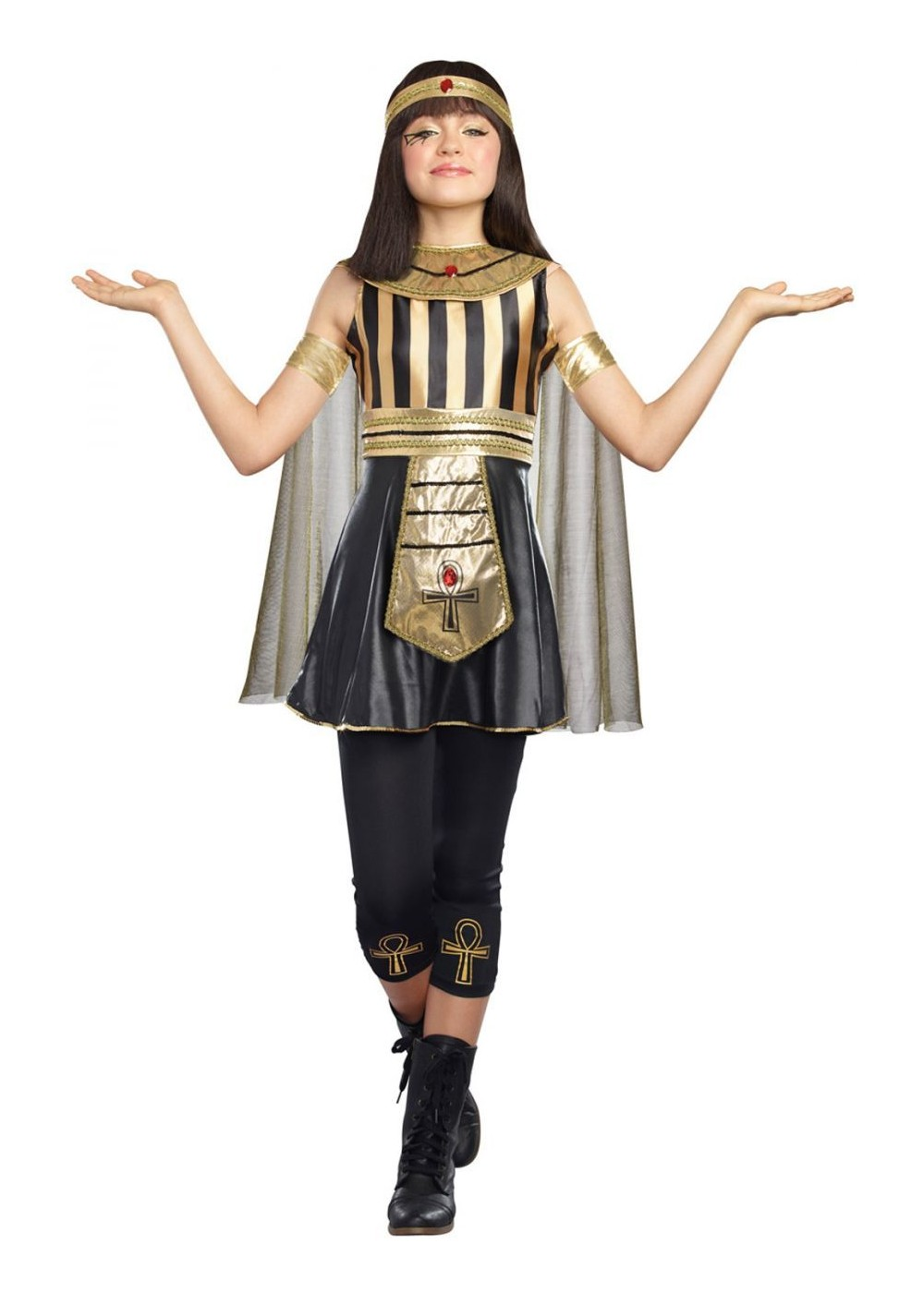 Egyptian Jewel Cleopatra Tween Costume  sc 1 st  Wonder Costumes & Egyptian Jewel Cleopatra Tween Costume - Egyptian Costumes
