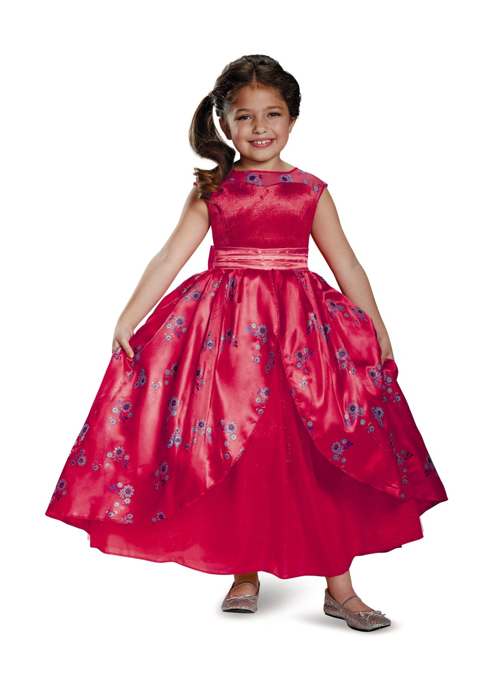 Kids Elena Of Avalor Ball Gown Disney Girl Costume Deluxe