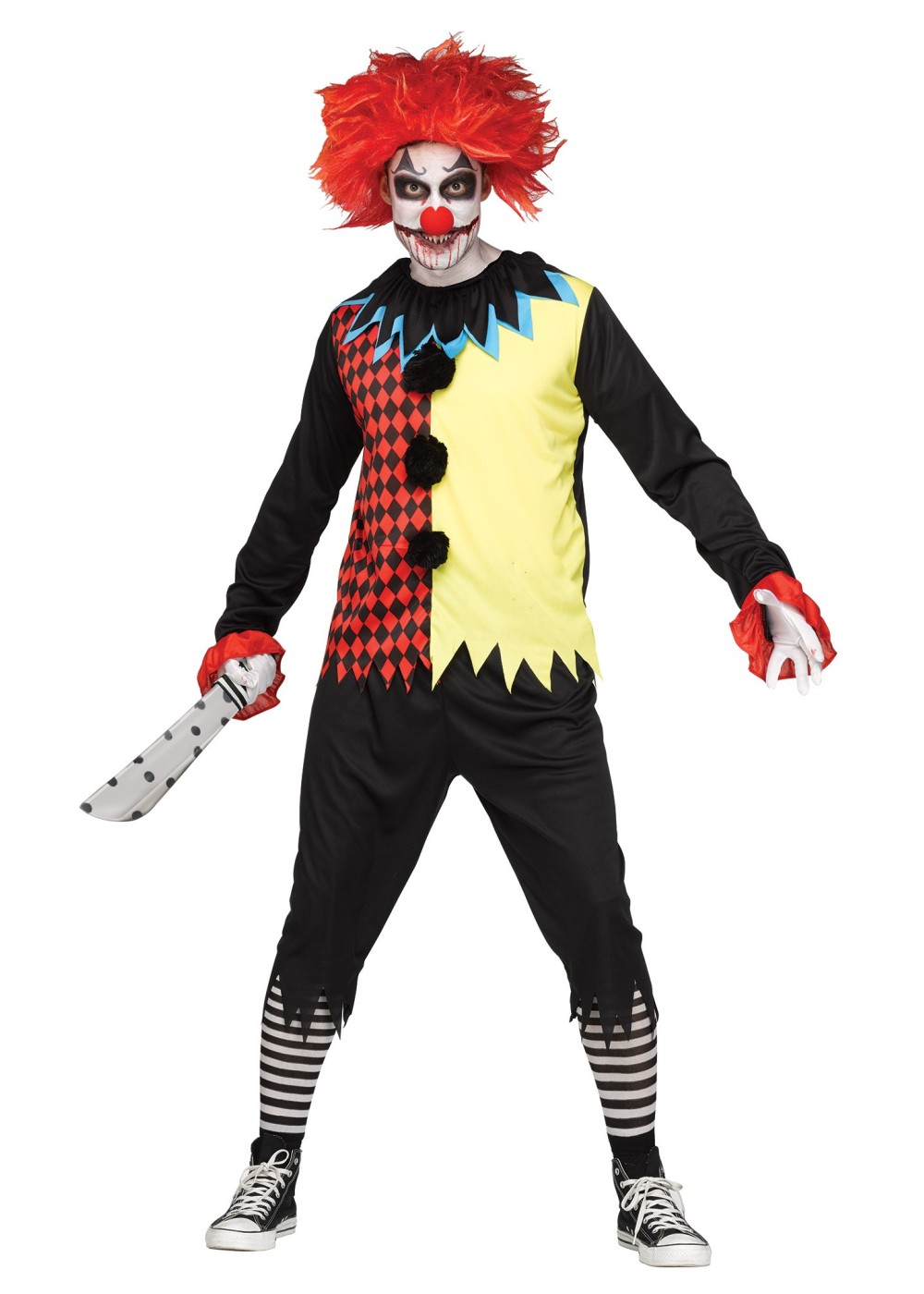 freak show clown men costume scary costumes