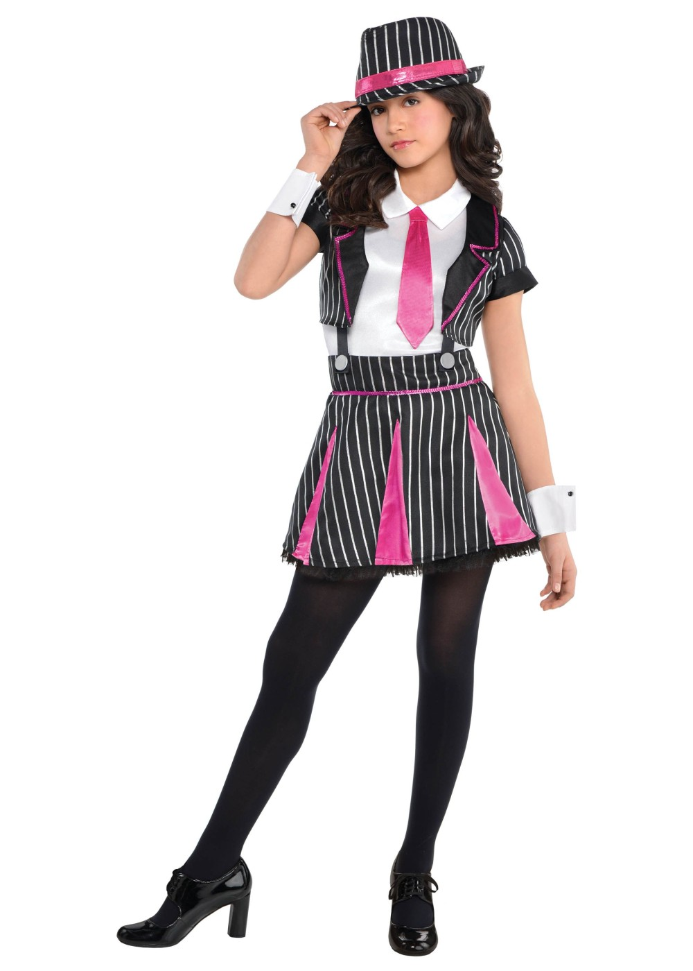Kids Gangster Doll Girls Costume
