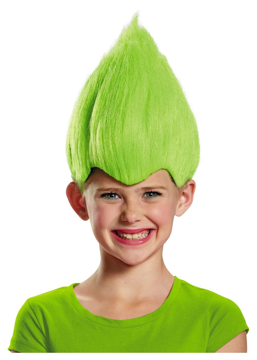 Green Wacky Troll Wig Wigs