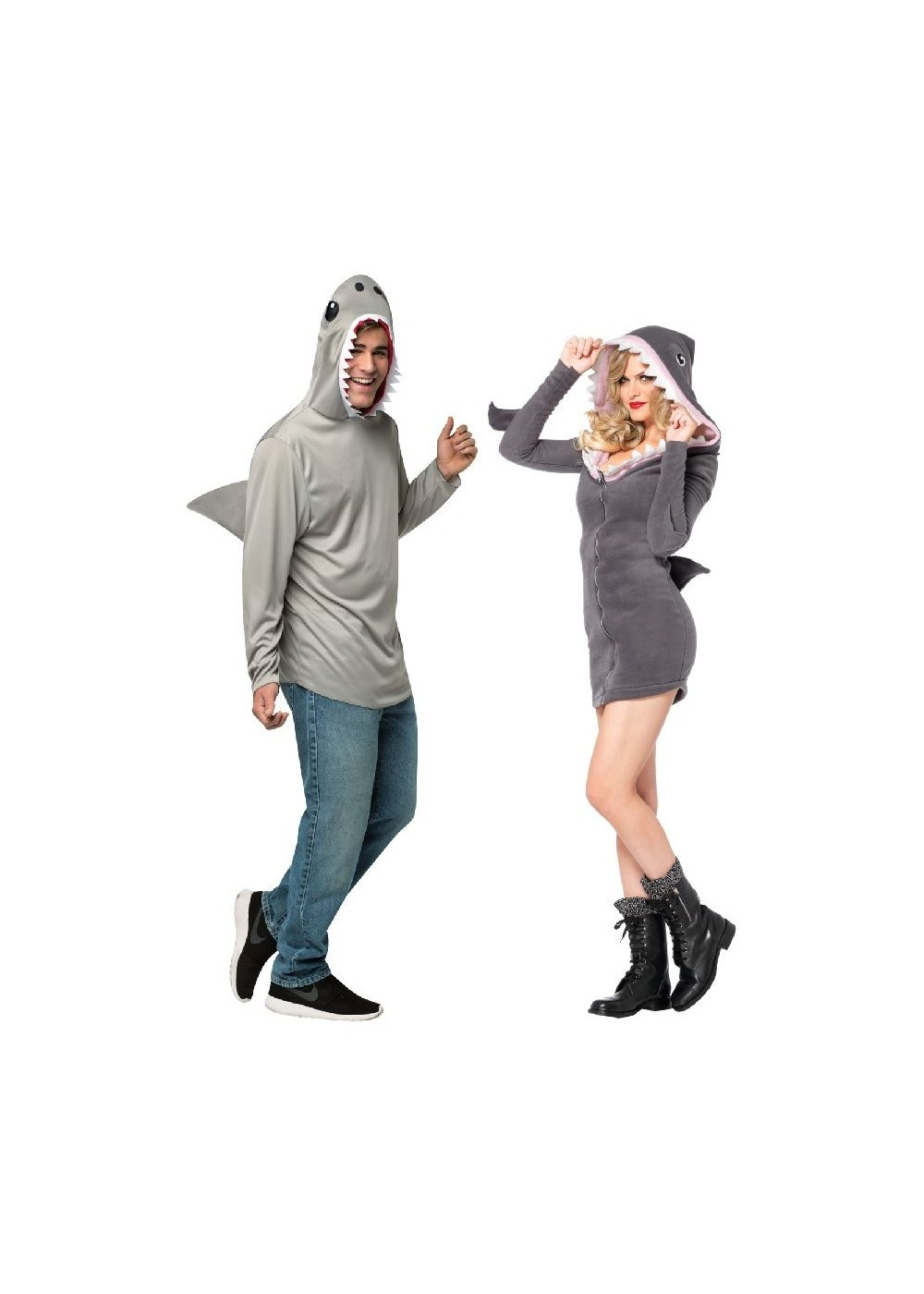 Grey Shark Duo Couple Costume Kit