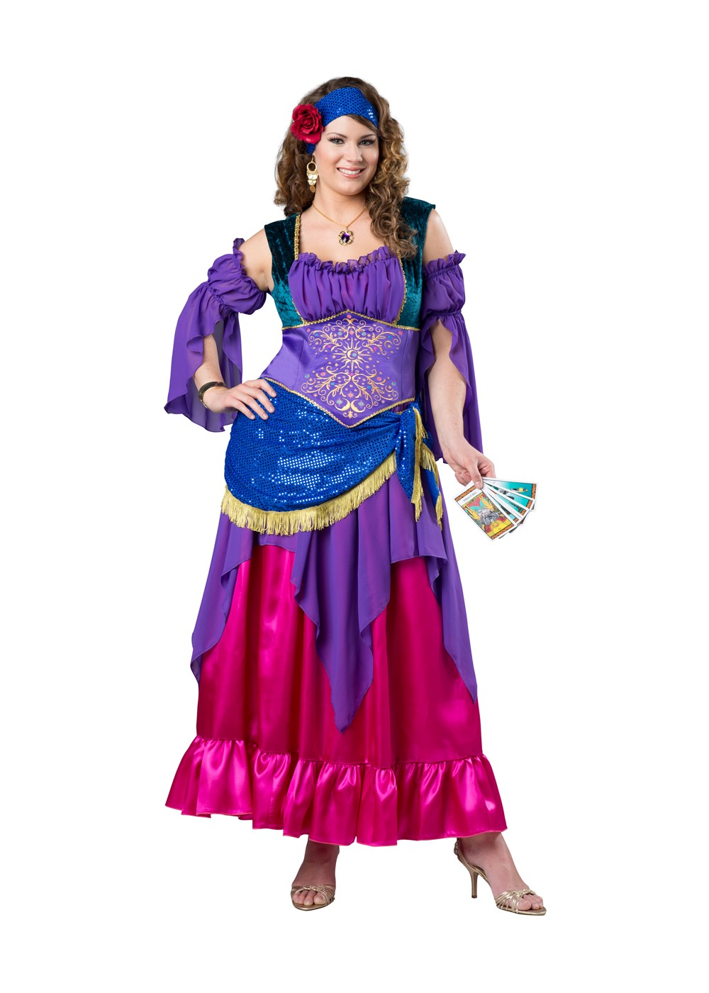 Gypsy Treasure Plus size Women Costume - Renaissance Costumes