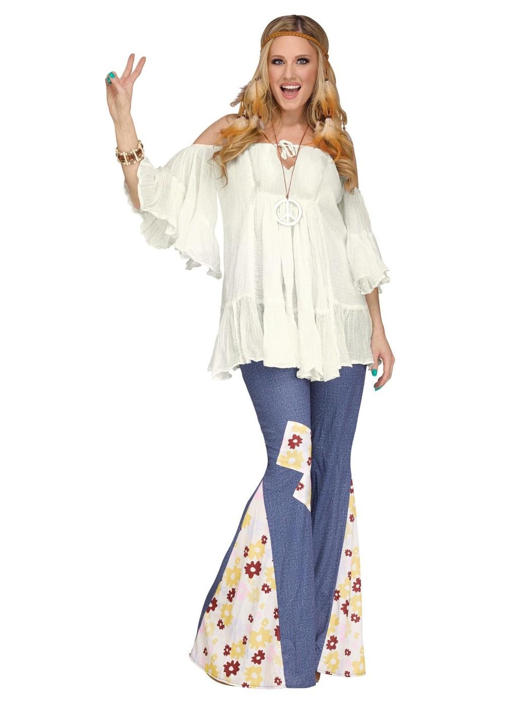 Hippie Gauze Top Women Blouse - Hippie Costumes