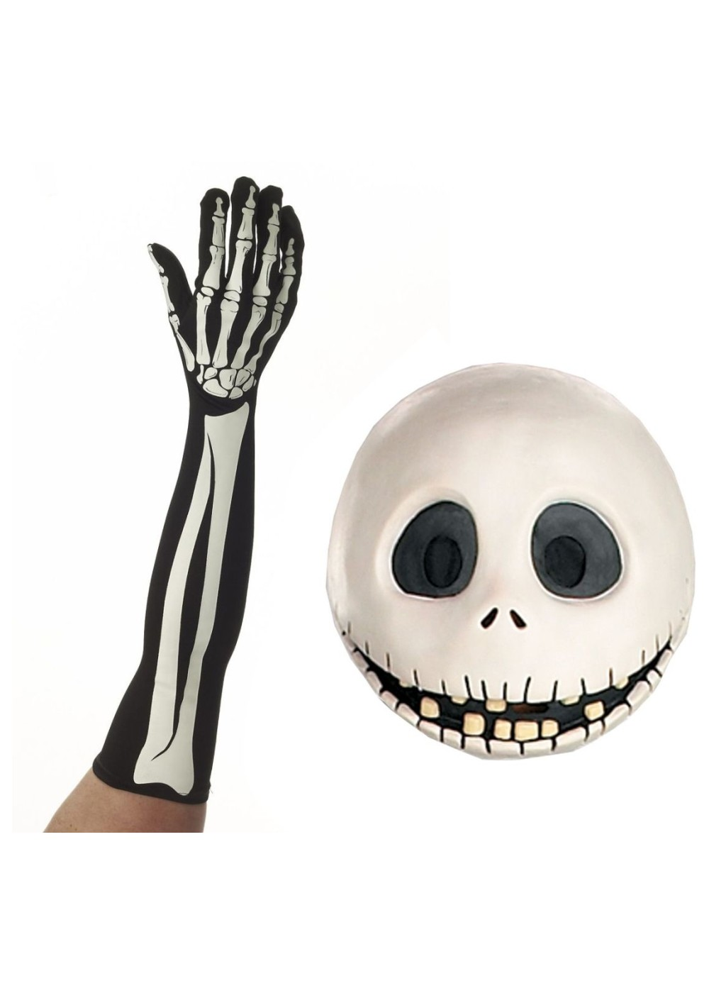 Jack Skellington Mask And Gloves Costume Kit
