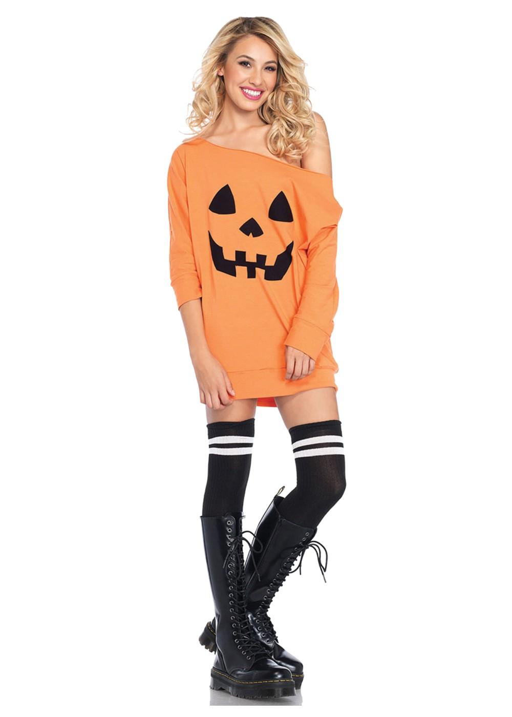 pumpkin jersey dress costume  holiday costumes