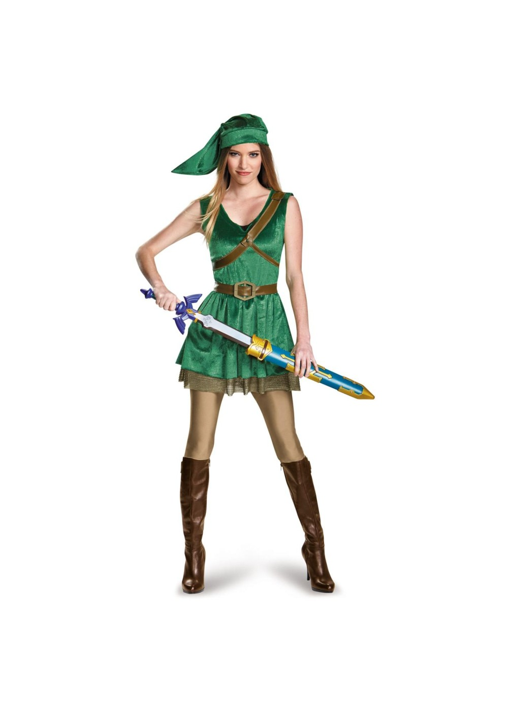 Legend Of Zelda Link Girls Teen Costume  sc 1 st  Halloween Costumes & Legend of Zelda Link Girls Teen Costume - Video Game Costumes