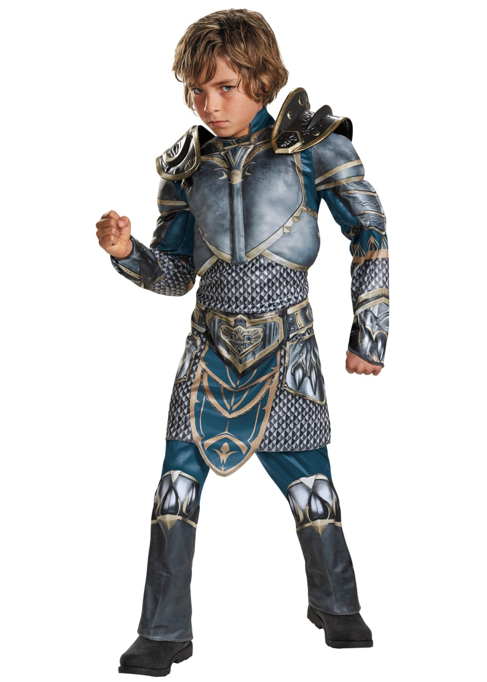 World Of Warcraft Lothar Muscle Boys Costume