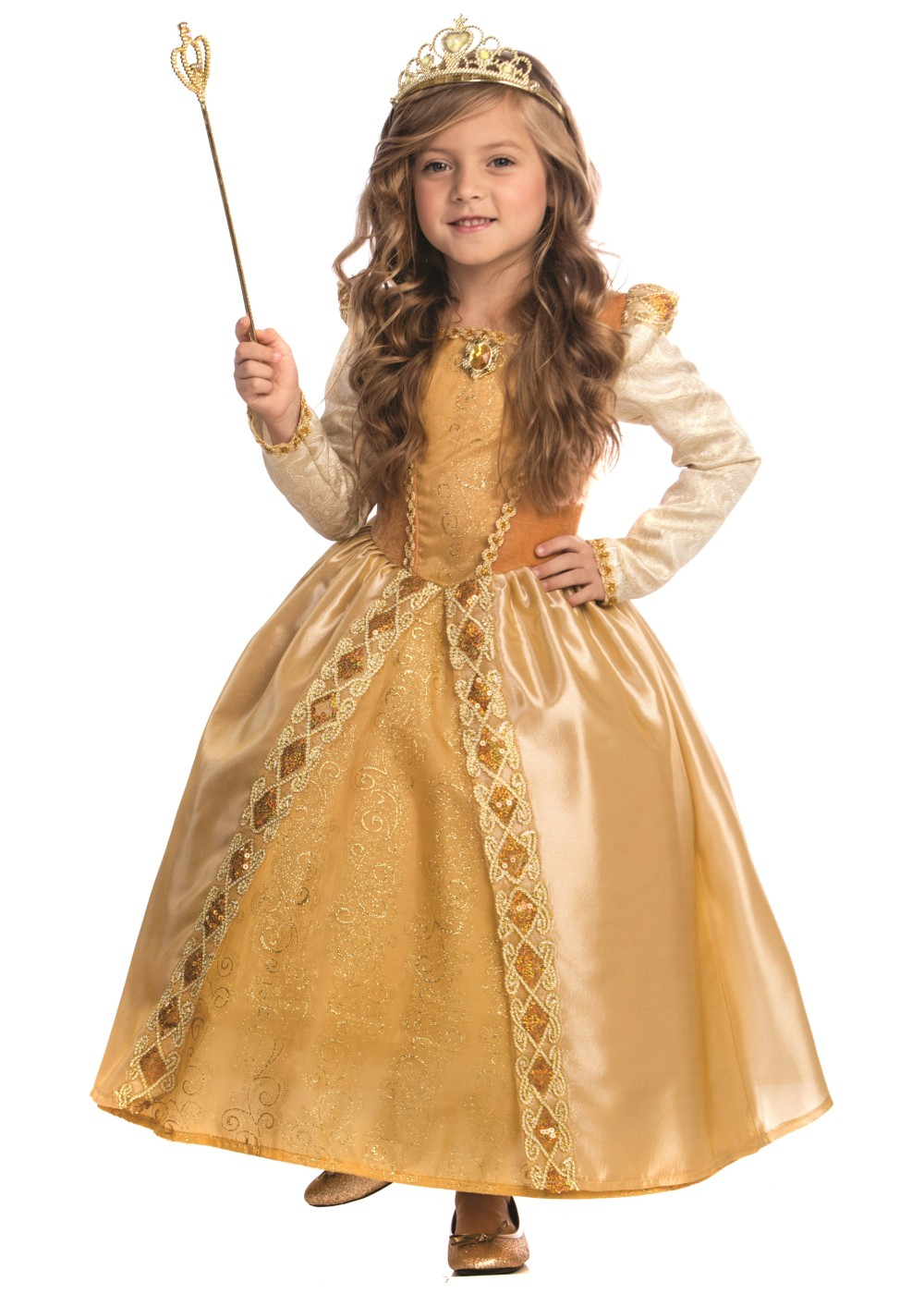 Majestic Golden Girl Princess Costume Costumes