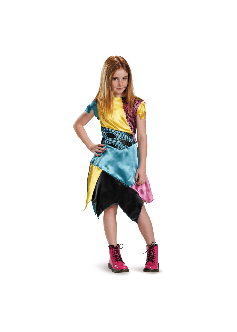 Kids Nightmare Before Christmas Sally Girls Costume