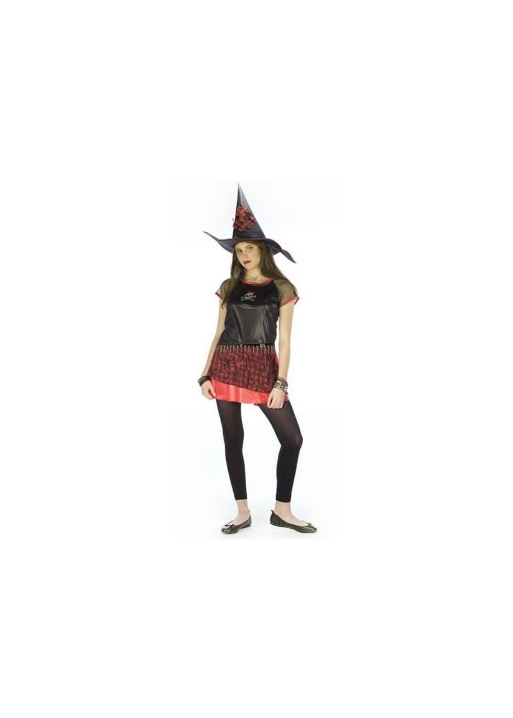 Punk Plaid Witch Costume