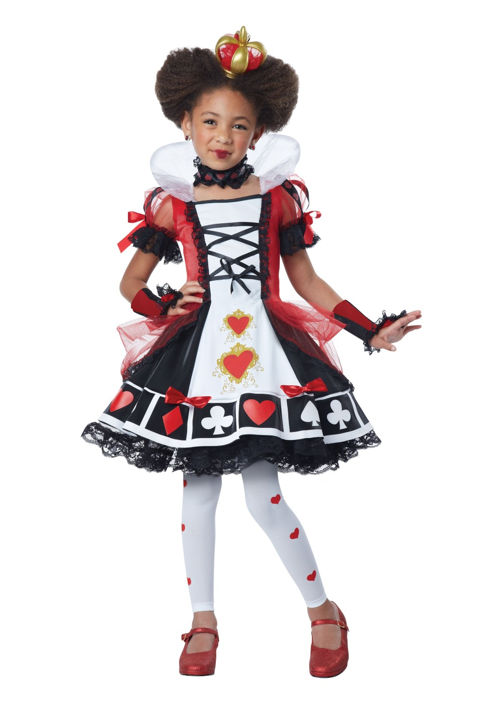Kids Queen Of Hearts Girls Costume