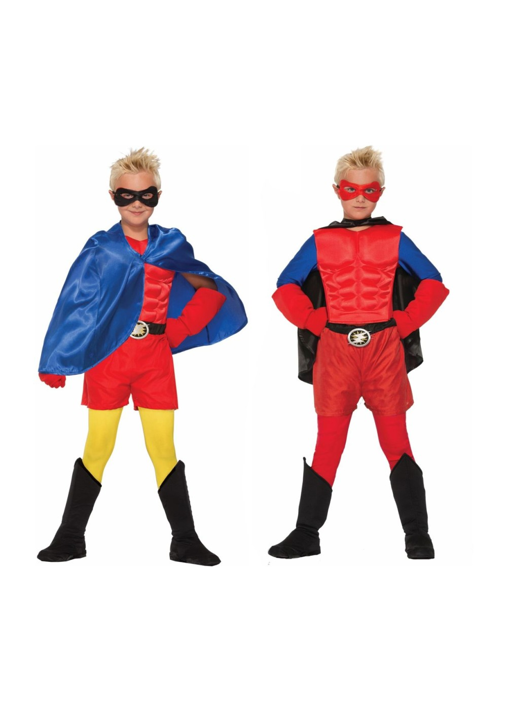 Red and Blue Superhero Kidsu0027 Costume Set  sc 1 st  Wonder Costumes & Generic Superhero Costumes for Halloween Why Not?