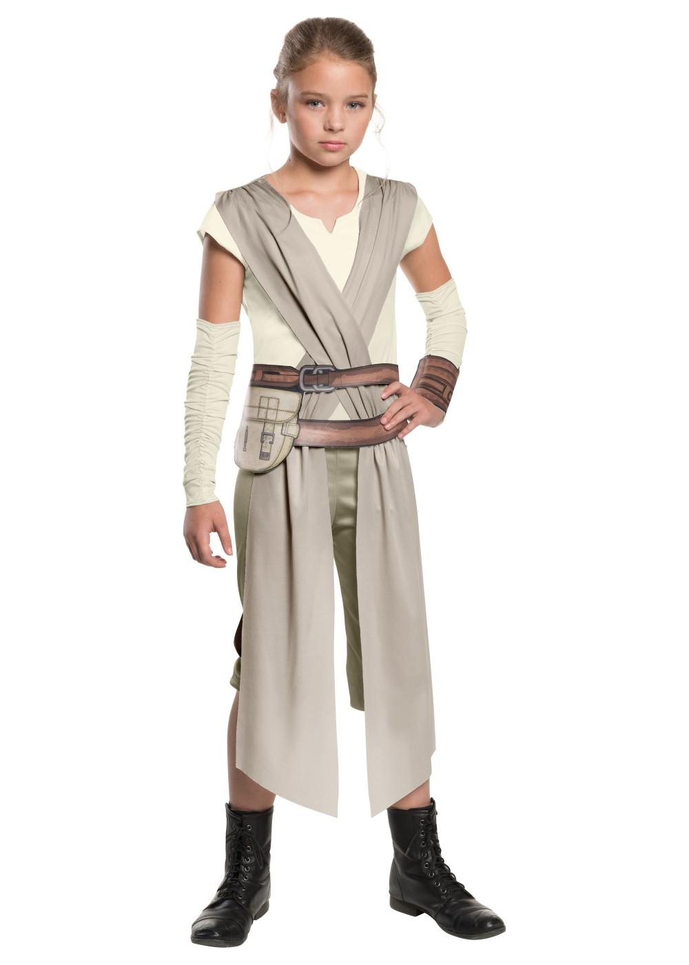 Girls Star Wars Rey Costume - Movie Costumes-8679