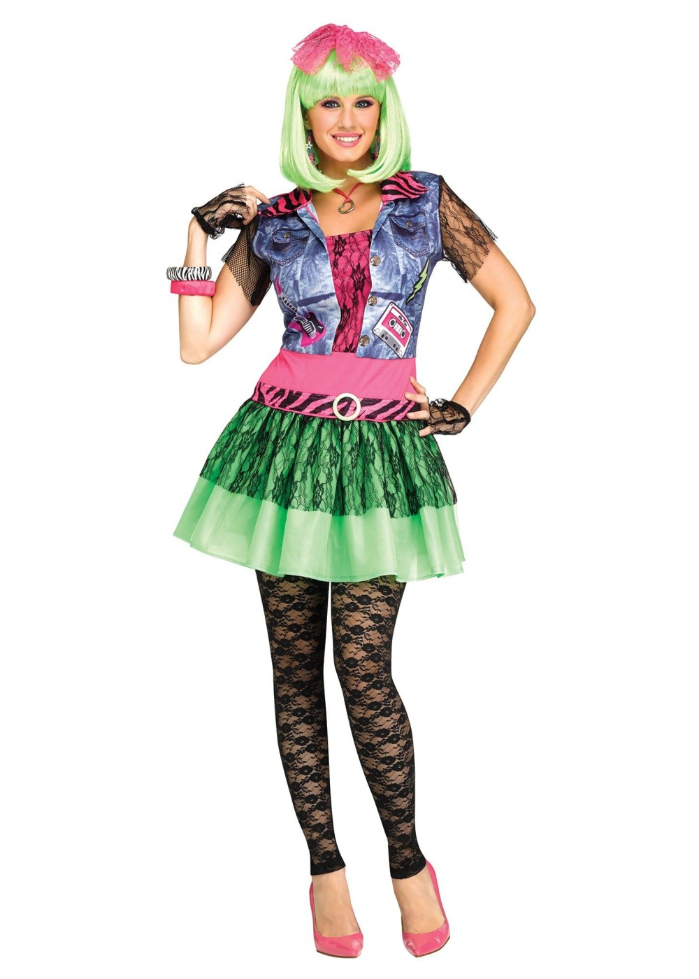 Rockin 80s Women Costume  sc 1 st  Halloween Costumes : 80s chick costume  - Germanpascual.Com